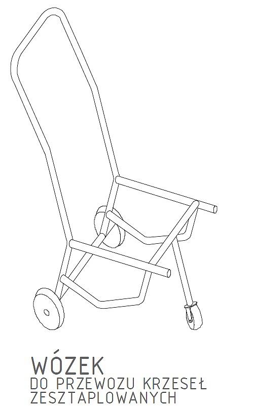 Wózek do krzeseł Drew System