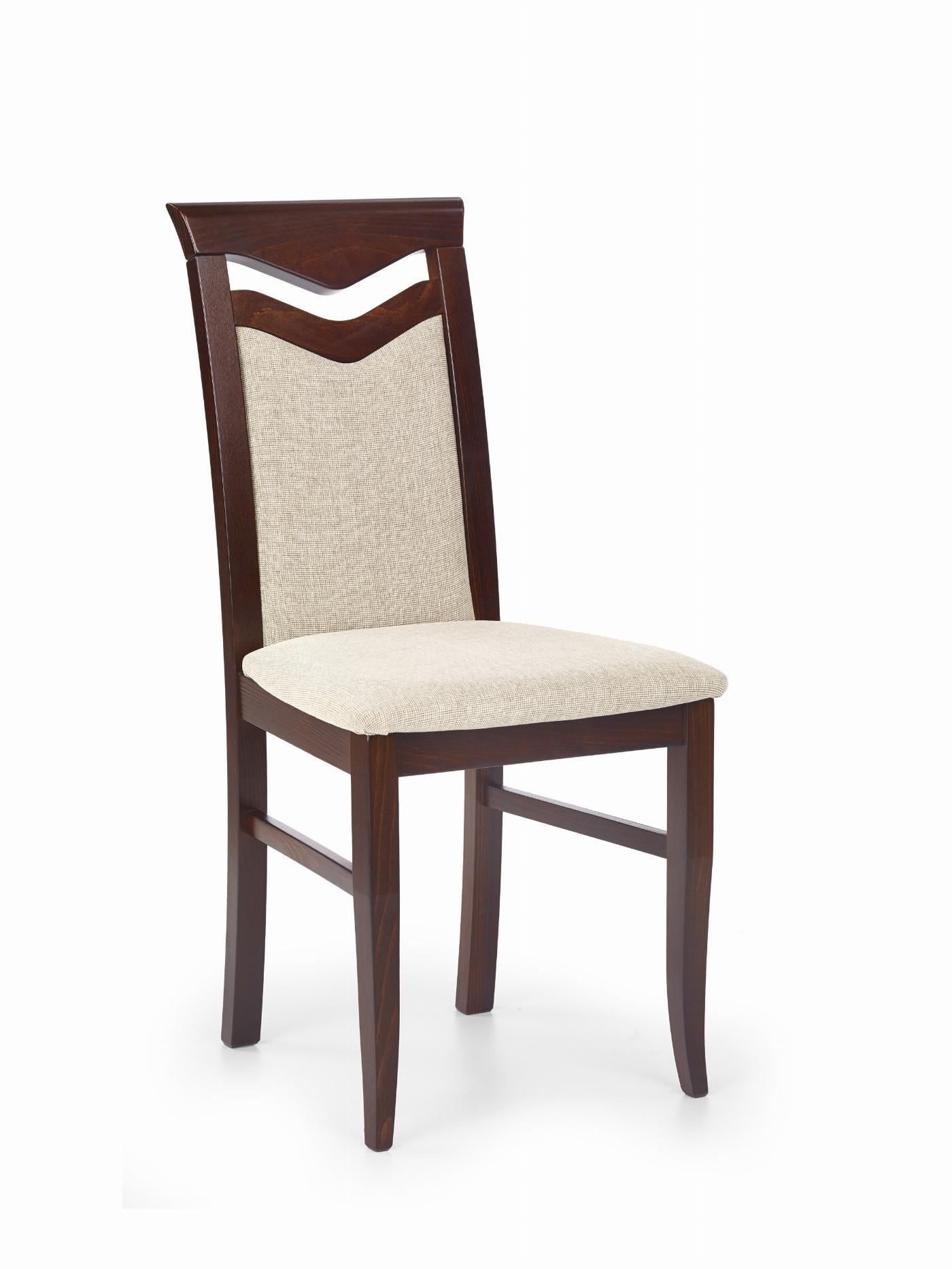 CITRONE krzesło ciemny orzech / tap: VILA 2 (1p=2szt)