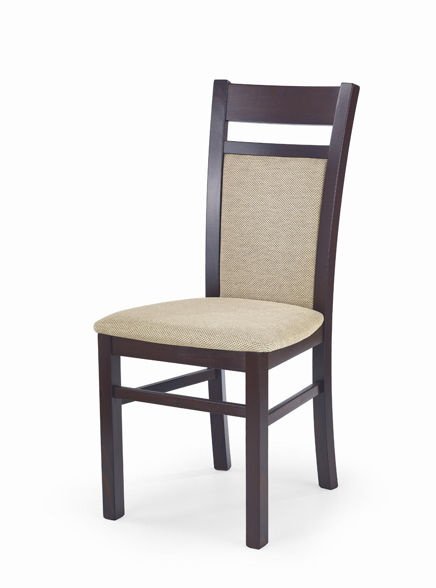 GERARD2 krzesło ciemny orzech / tap: Torent Beige (1p=2szt)
