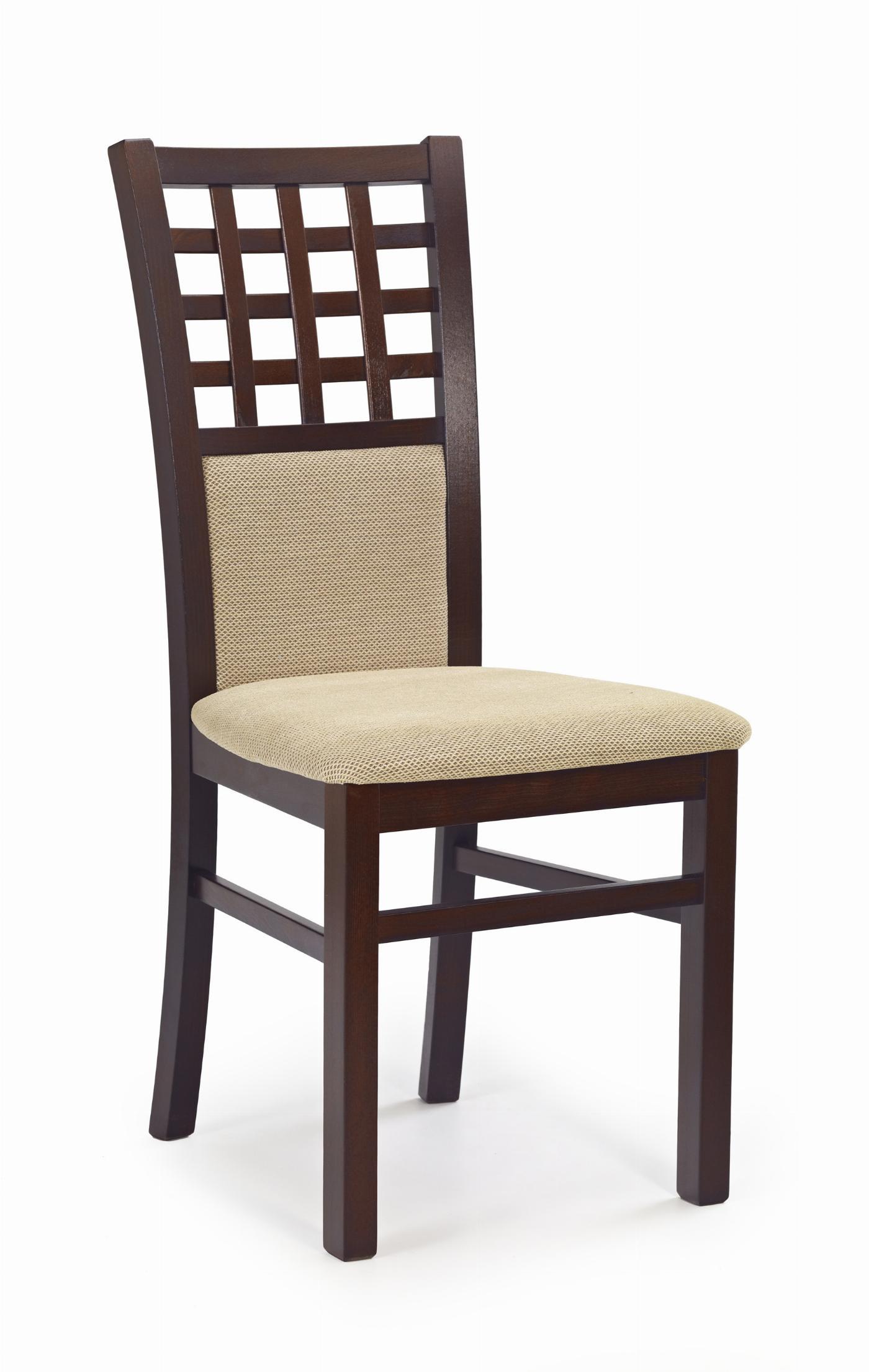 GERARD3 krzesło ciemny orzech / tap: Torent Beige (1p=2szt)