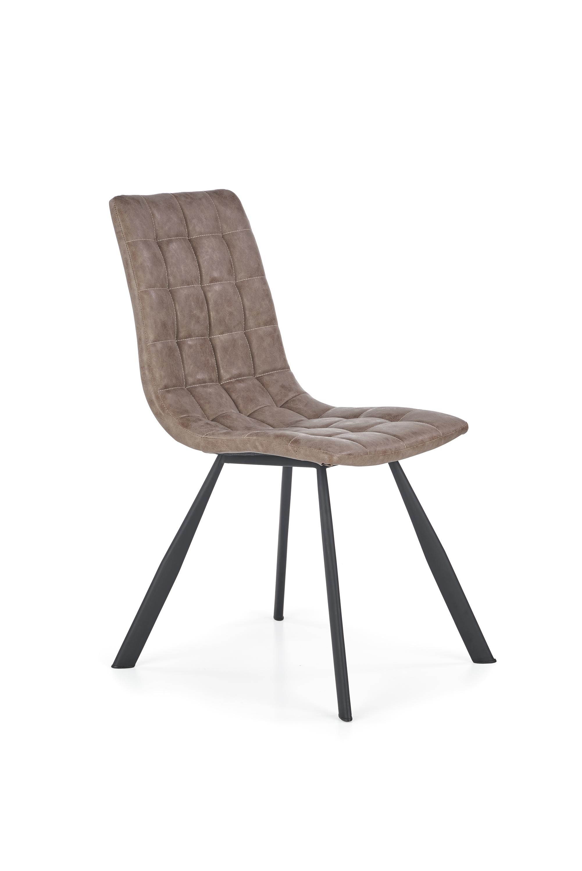 K280 krzesło brązowy / czarny