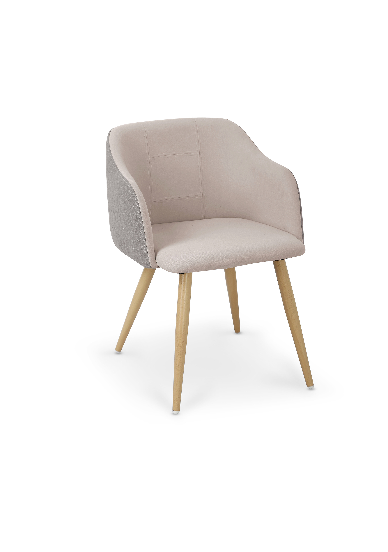 K288 krzesło jasny popiel / beżowy