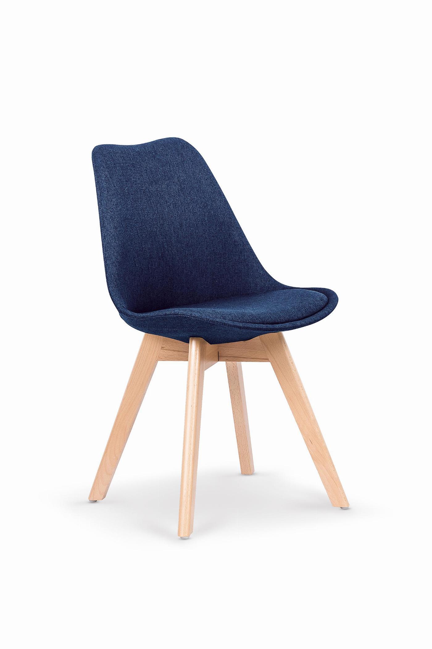 K303 krzesło ciemny niebieski / buk