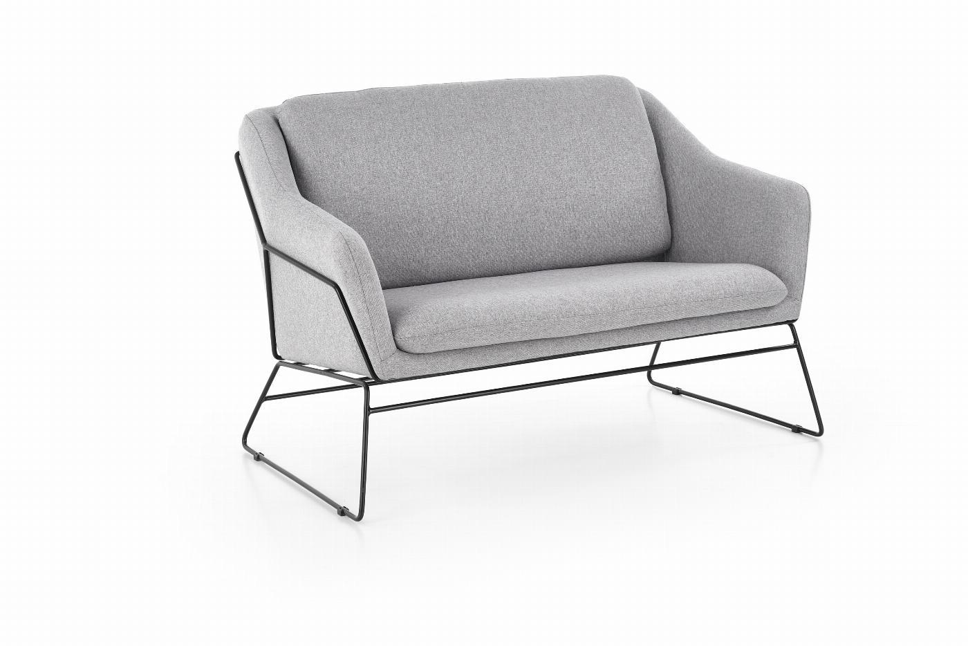 SOFT 2 XL fotel - sofa wypoczynkowa podwójny czarny stelaż, jasny popiel (1p=1szt)