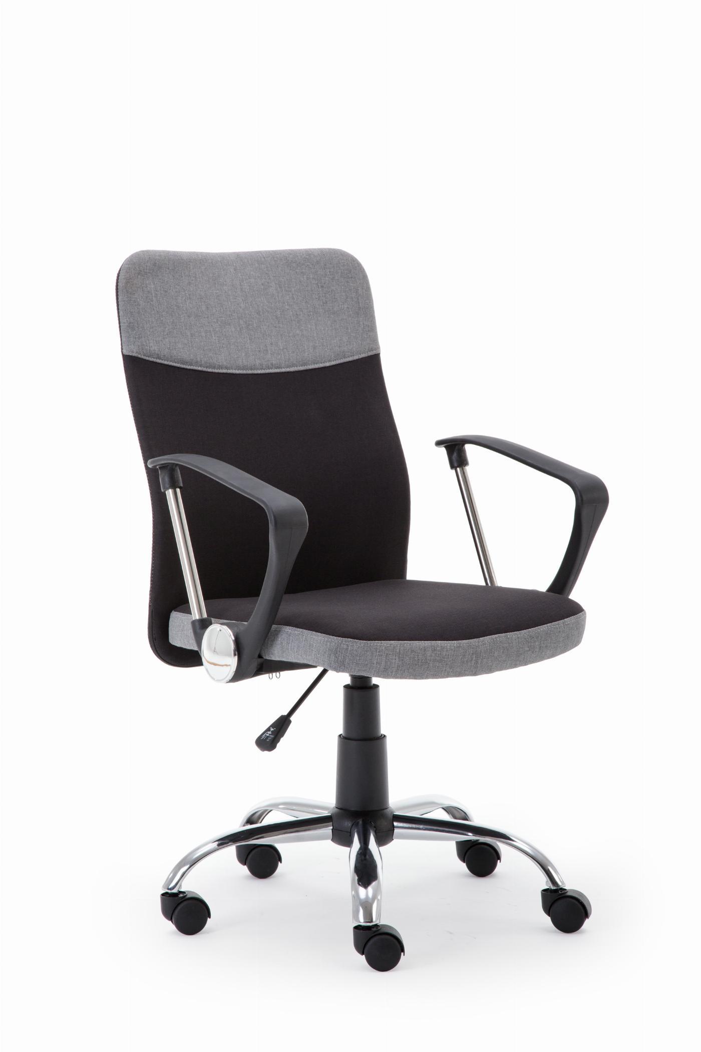 TOPIC fotel pracowniczy czarno - popielaty