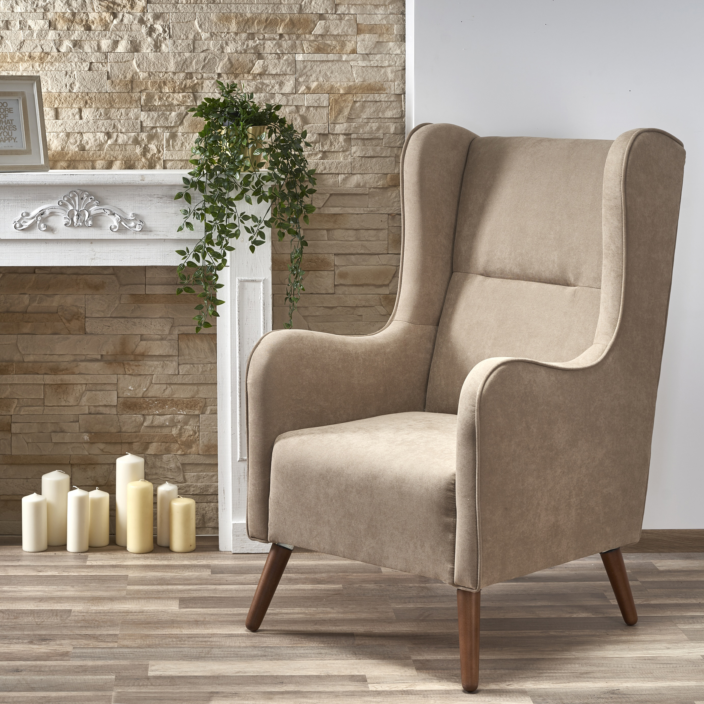 CHESTER fotel wypoczynkowy beżowy ( LIRA-1203 )