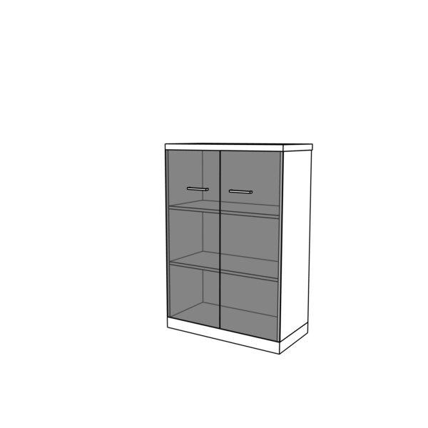 Szafa z drzwiami szklanymi CLASSIC CS16