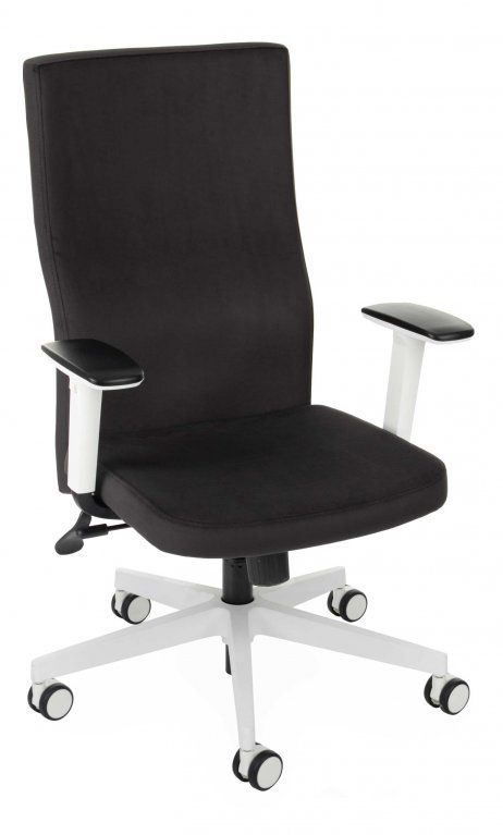 Fotel Biurowy obrotowy TEAM PLUS WHITE - biała podstawa i podłokietniki  różne tapicerki