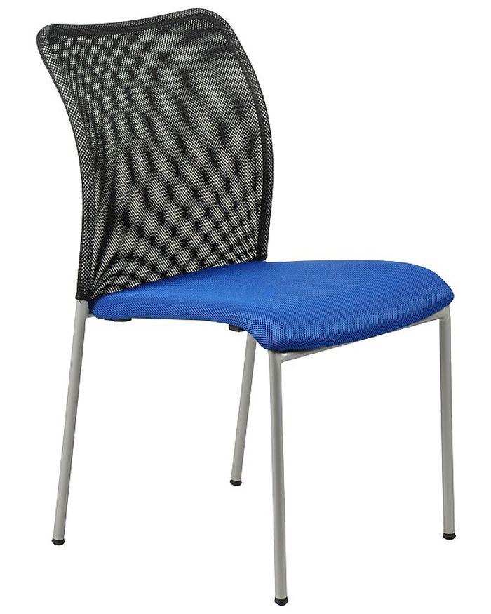 Krzesło konferencyjne EF-HN7502 alu/niebieski