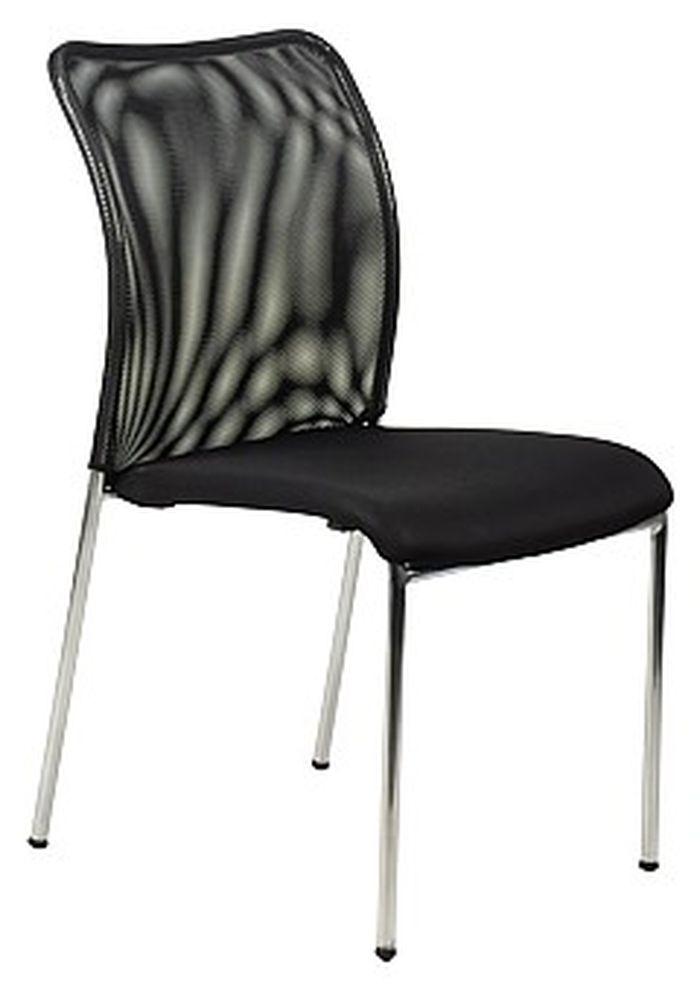 Krzesło konferencyjne EF-HN7502 chrom/czarny