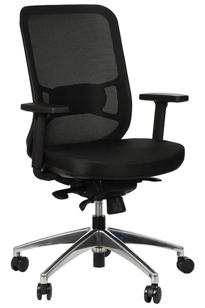 Fotel Biurowy Obrotowy EF-GN310 alu czarny