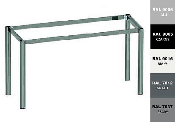 Stelaż metalowy do biurka lub stołu  ST-A2 noga okrągła fi 5 długość=45 cm