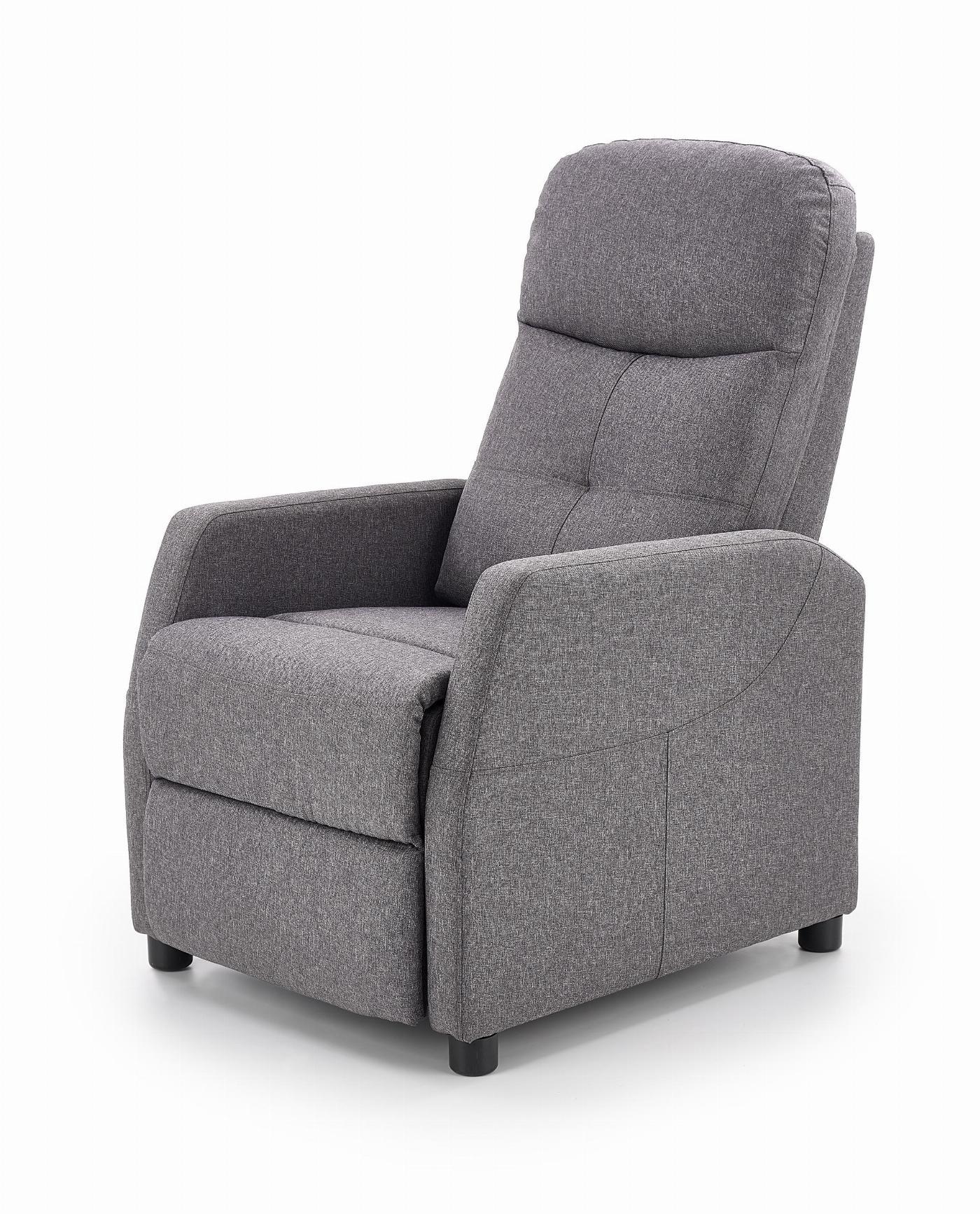 FELIPE fotel wypoczynkowy ciemny popiel (1p=1szt)
