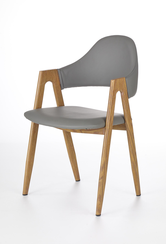 K247 krzesło popiel-dąb miodowy (1p=2szt)