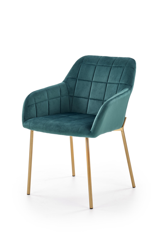 K306 krzesło złoty / ciemny zielony (1p=2szt)