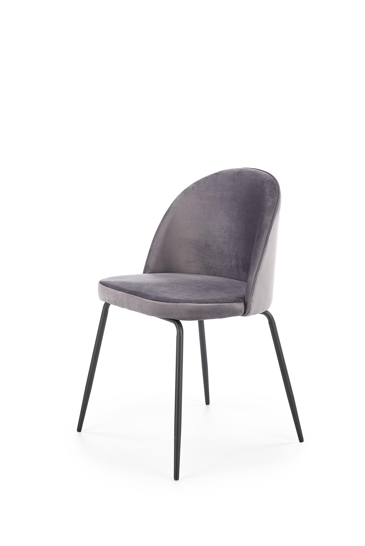 K314 krzesło nogi - czarne, tapicerka - c. popielaty (1p=2szt)