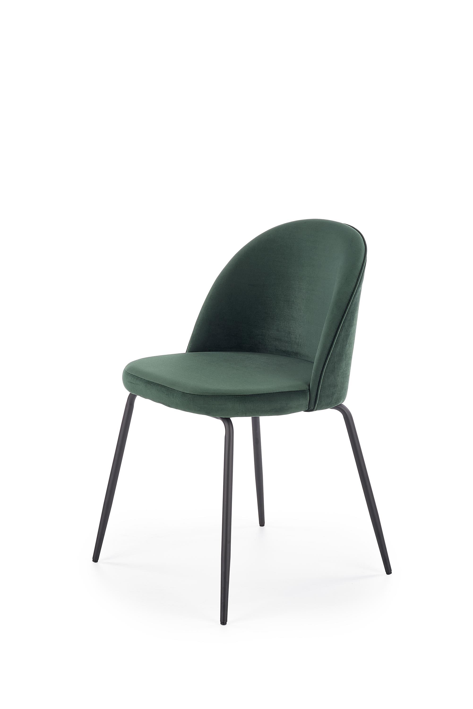 K314 krzesło nogi - czarne, tapicerka - c. zielony