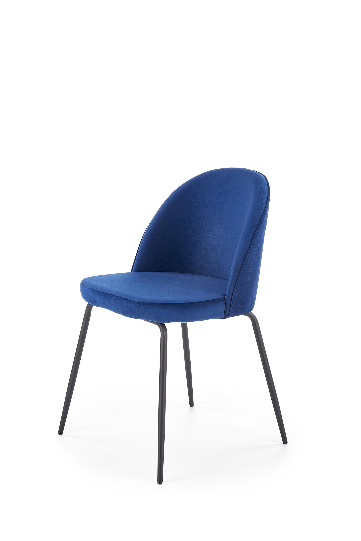 K314 krzesło nogi - czarne, tapicerka - granatowy (1p=2szt)