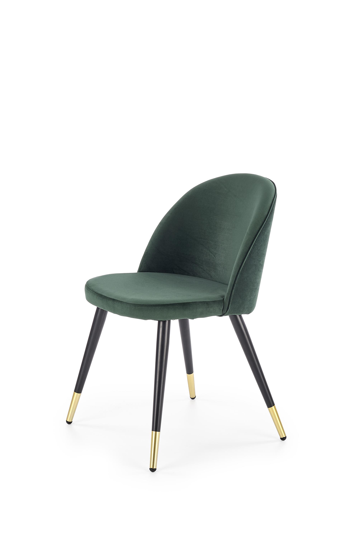 K315 krzesło nogi - czarny / złoty, tapicerka - c. zielony (1p=4szt)