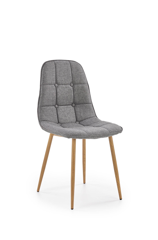 K316 krzesło tapicerka - popielata, nogi - dąb miodowy (1p=4szt)
