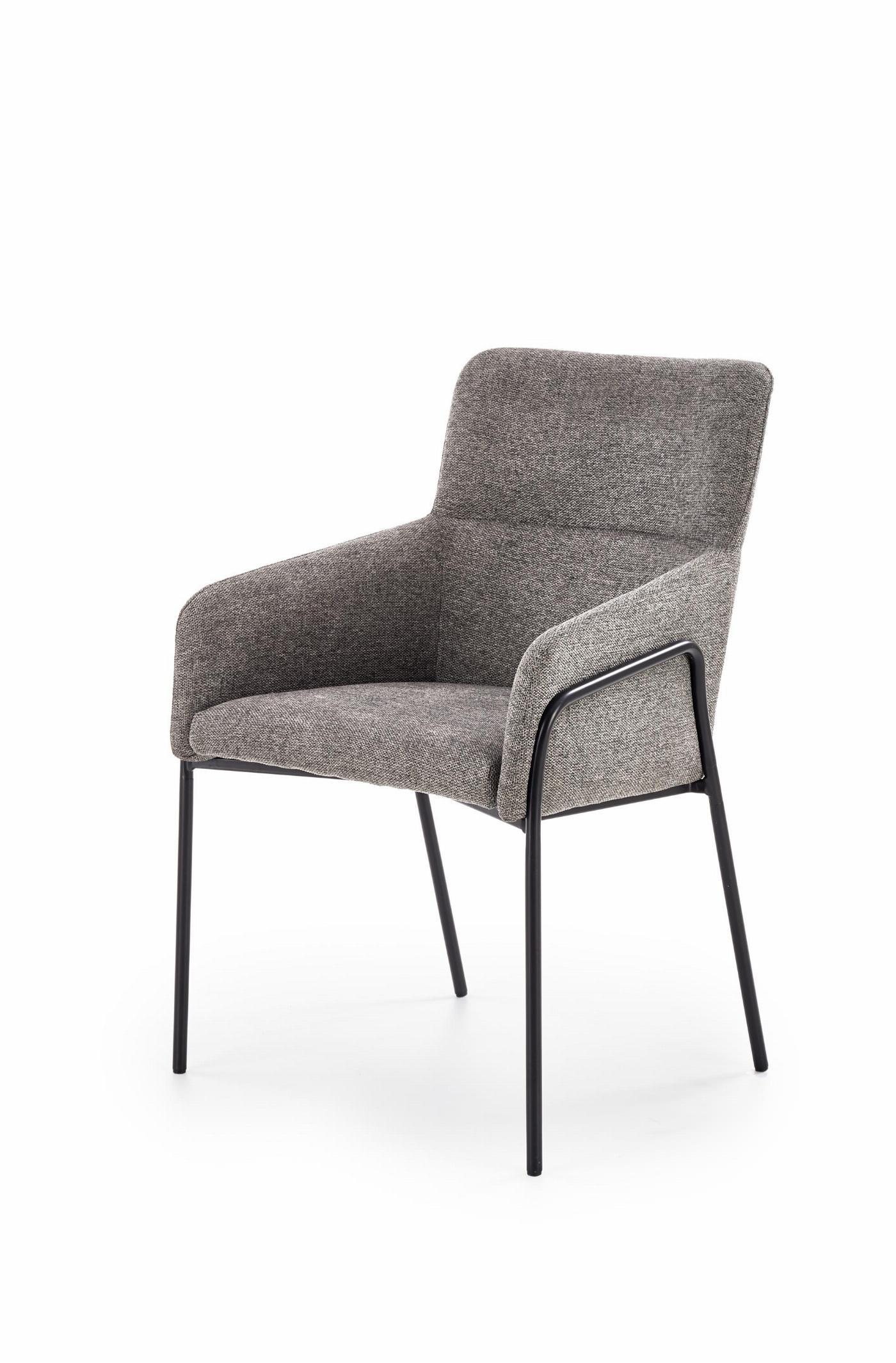 K327 krzesło stelaż - czarny, tapicerka - popielaty (1p=2szt)