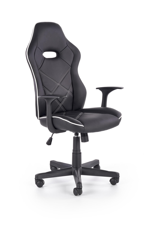 RAMBLER fotel gabinetowy czarny / biały