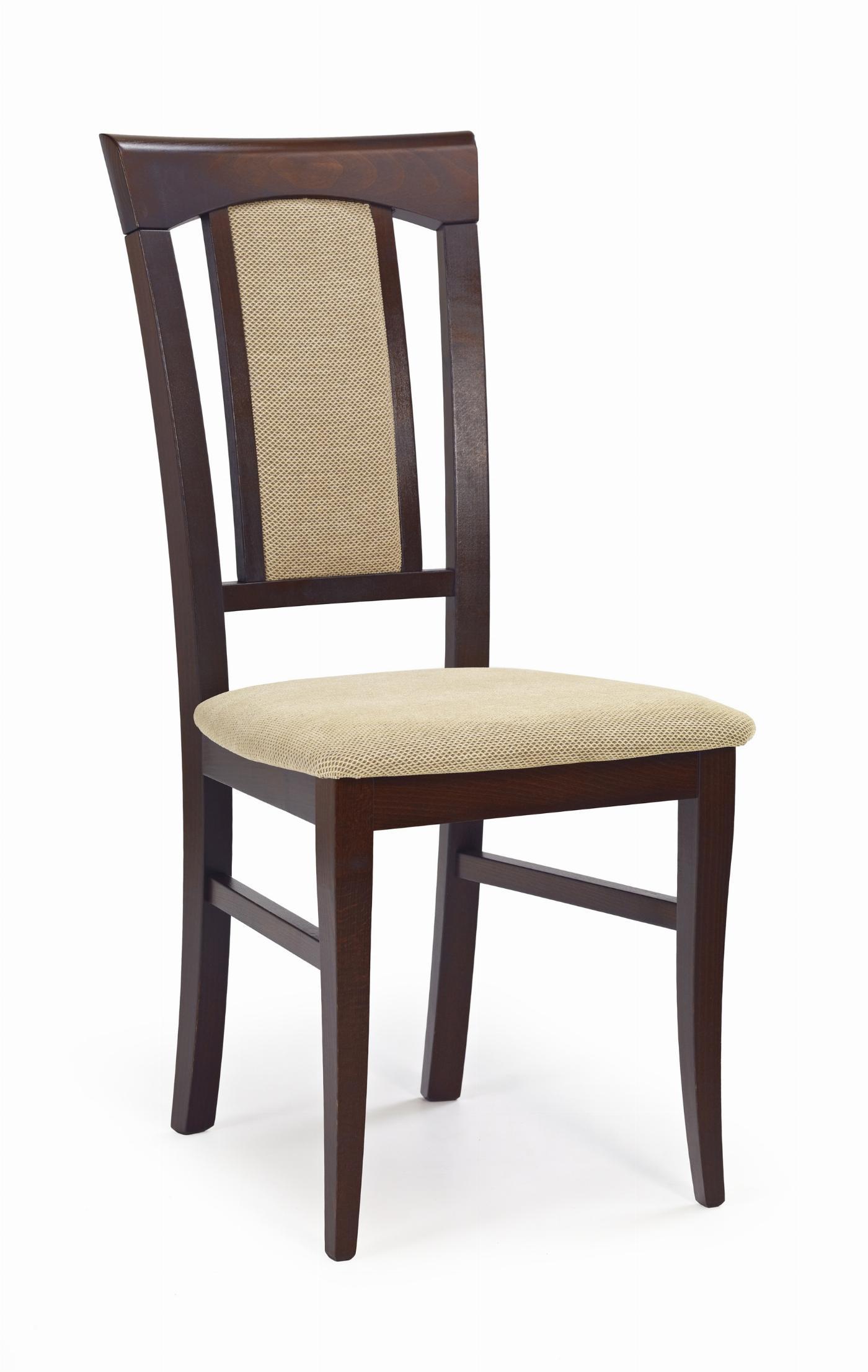 KONRAD krzesło ciemny orzech / tap: Torent Beige (1p=2szt)