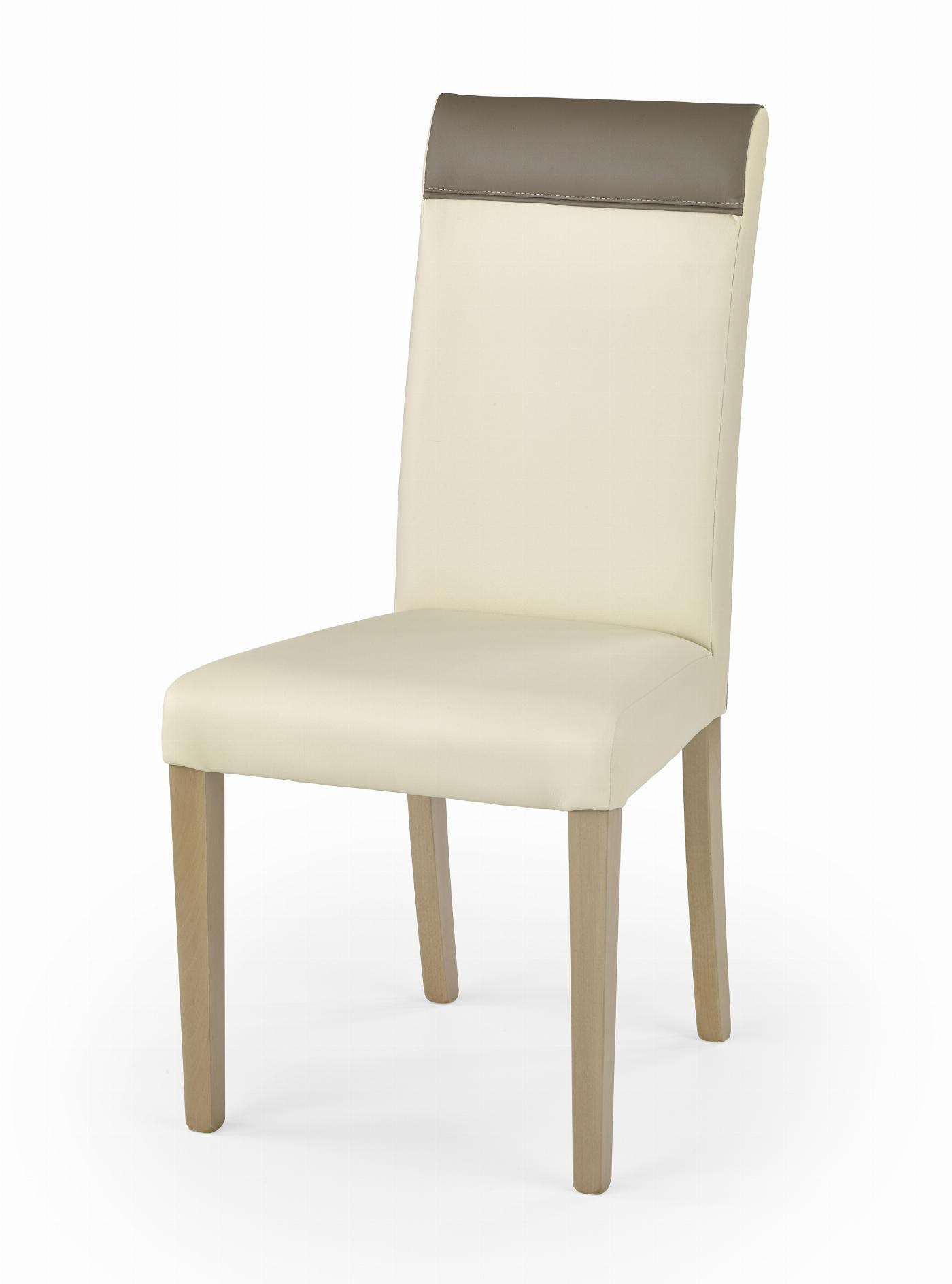 NORBERT krzesło dąb sonoma / tap: kremowy (1p=2szt)