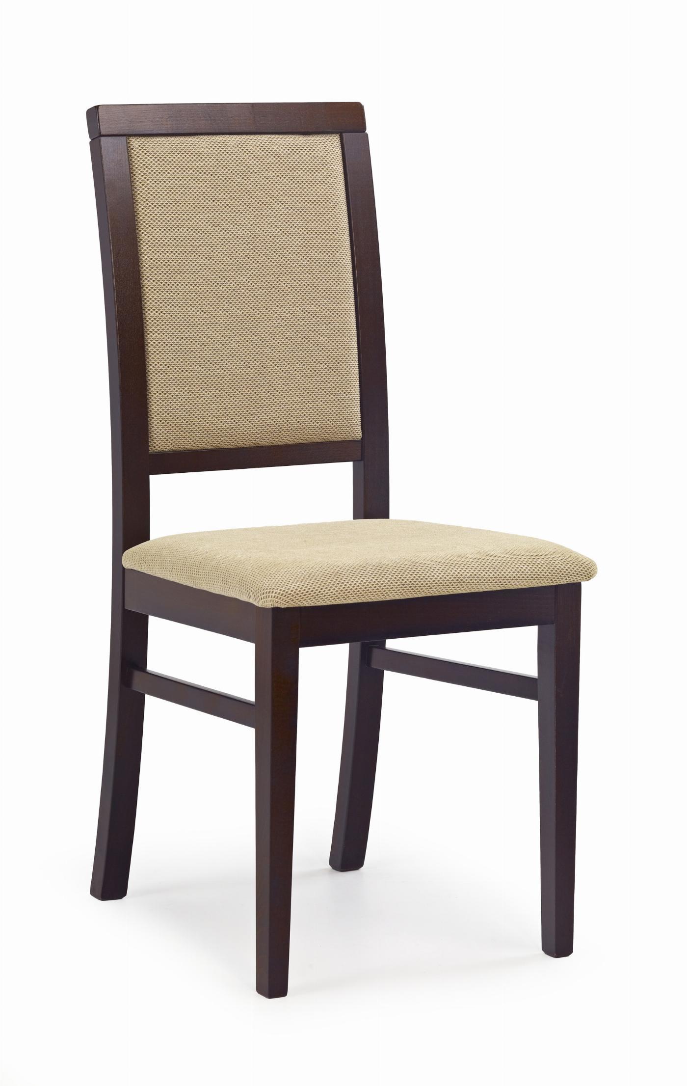 SYLWEK1 krzesło ciemny orzech, tkanina / tap: Torent Beige (1p=2szt)