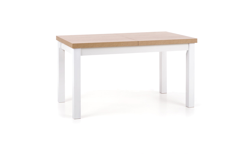 TIAGO stół rozkładany 140-220/80 blat: dąb sonoma, nogi: biały (2p=1szt)