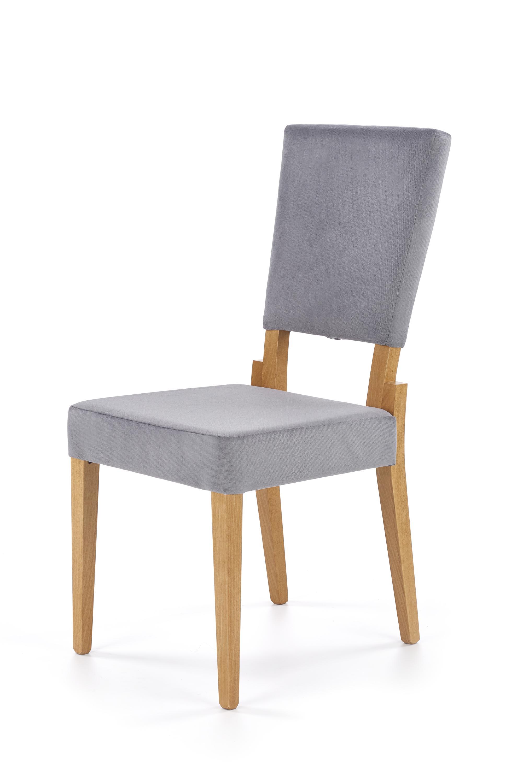 SORBUS krzesło, tapicerka - popielaty, nogi - dąb miodowy (1p=2szt)