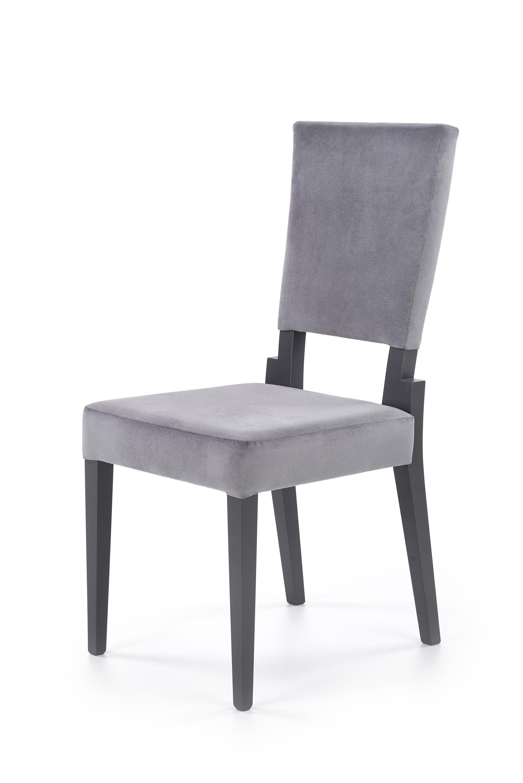 SORBUS krzesło, tapicerka - popielaty, nogi - grafitowe