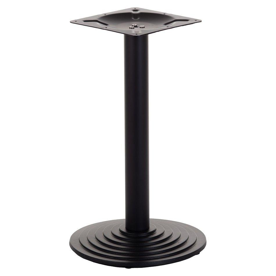 Podstawa do stolika EF-SH-5005-1-B żeliwna, czarna - wysokość 72 cm fi 43 cm
