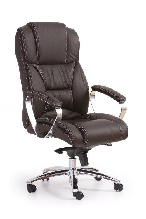 FOSTER fotel gabinetowy ciemny brąz - skóra
