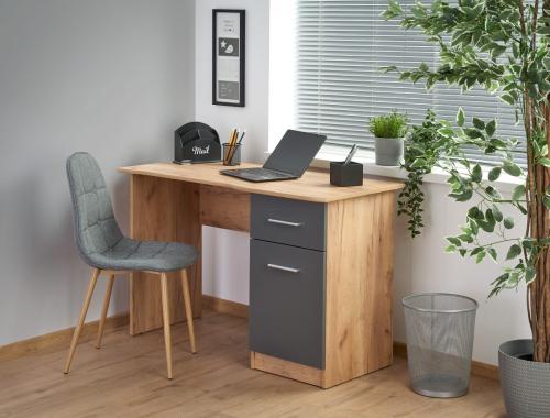 ELMO biurko dąb wotan / antracyt (1p=1szt)