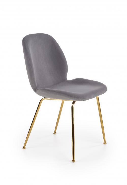 K381 krzesło popielaty / złoty (1p=4szt)