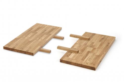 APEX & RADUS - przedłużka blatu 85x40 cm; drewno lite - dębowe kolor: dąb naturalny  (1p=1szt)