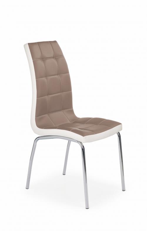 K186 krzesło cappuccino - biały (1p=4szt)