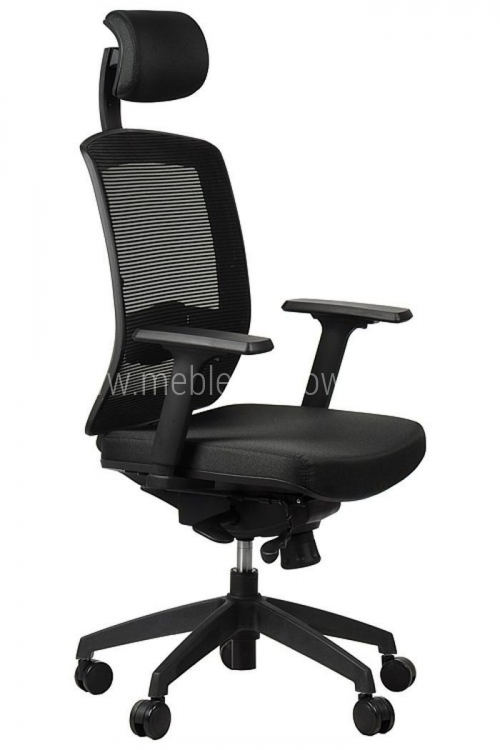 Fotel biurowy obrotowy EF-GN301 z wysuwem siedziska czarny