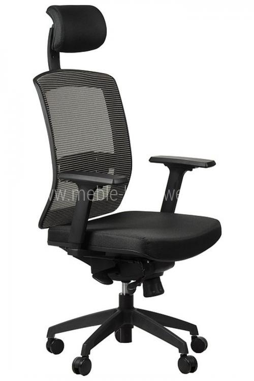 Fotel biurowy obrotowy EF-GN301 z wysuwem siedziska - szary