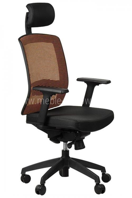 Fotel biurowy obrotowy EF-GN301 z wysuwem siedziska - pomarańczowy