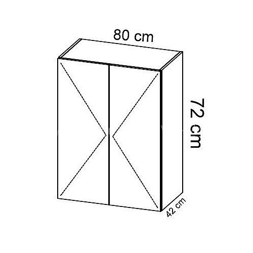Komoda gabinetowa KM-1 art.01 wysokość 72 cm