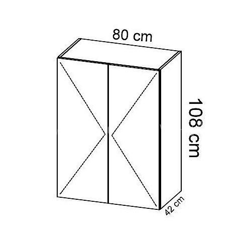 Komoda gabinetowa KM-1 art.02 wysokość 108 cm