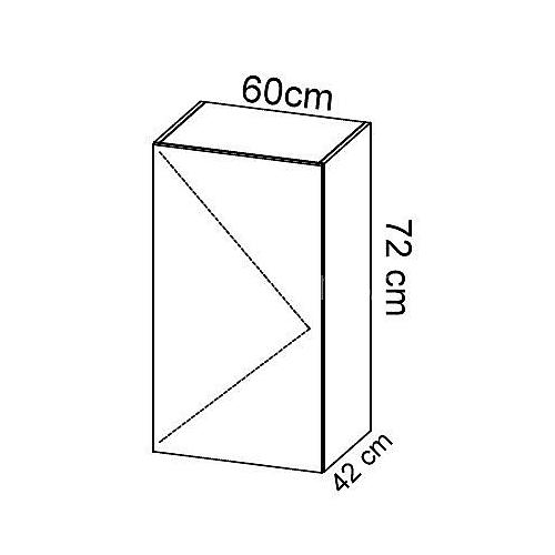 Komoda gabinetowa KM-3 art.01 wysokość 72 cm