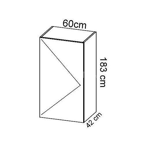 Komoda gabinetowa KM-3 art.03 wysokość 183 cm