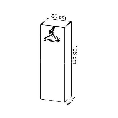 Komoda gabinetowa KM-6 art.01 wysokość 108 cm