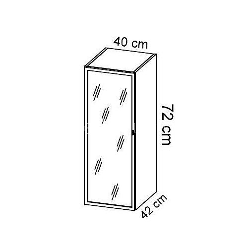 Komoda gabinetowa KM-8 art.01 wysokość 72 cm