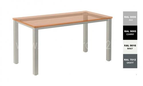 Stelaż metalowy do biurka lub stołu  ST-A1 noga kwadrat 6x6 długość=80 cm