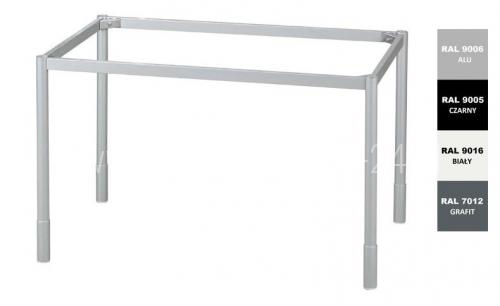 Stelaż metalowy do biurka lub stołu  ST-A2 noga okrągła fi 4 długość=60 cm