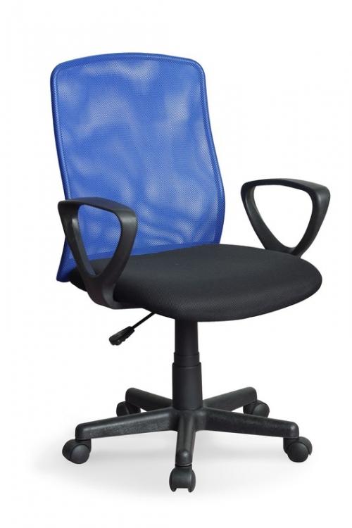 ALEX fotel pracowniczy czarno-niebieski